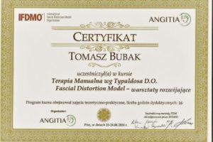 Certyfikat Facial Distortion Model-FDM rozwijający