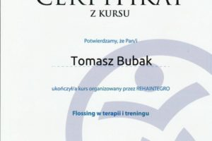Certyfikat Flossing w terapii i treningu