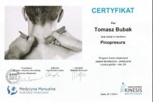 Certyfikat Pinopresura