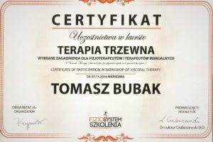 Certyfikat Terapia Trzewnej
