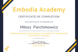Course Certificate - Dermoneuromodulating_ Treating the Patient as if Their Nervous System Really Mattered